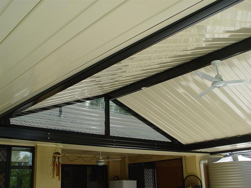 Spanplus 500 in situ on a patio roof as seen from underneath