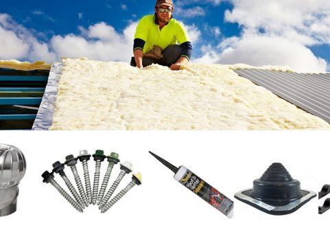 Insualtion, silicone, roof vents and other accessories used for installation of roofing and walling