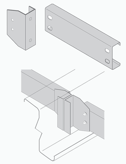 line drawings of bridging components