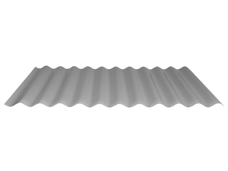 Render of a sheet of Corodek Colorbond fencing in greyscale.