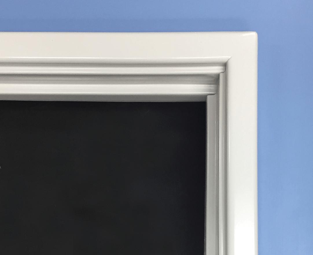 image of an installed standard deluxe metal door frame