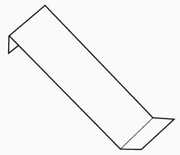 Line drawing of a hookover standard flashing from Metroll