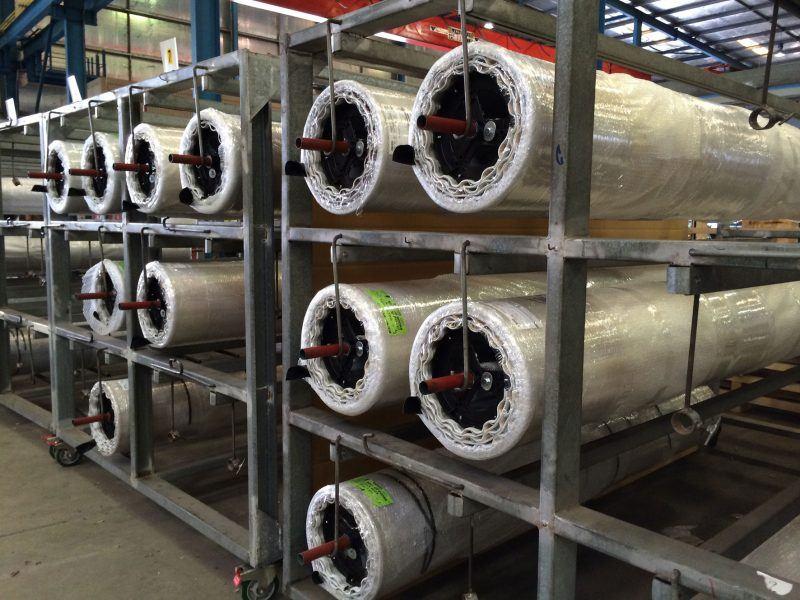 photo of roller doors in a rack