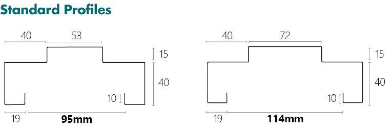 Metroll Square Bend Door Frame Specs Standard Profile