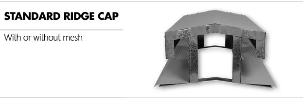 photo of a standard ridge cap