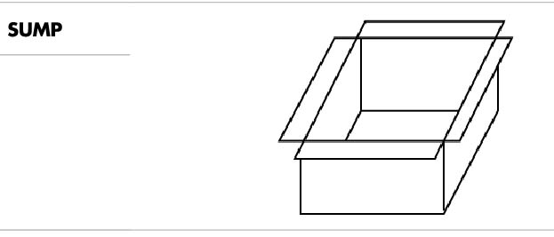 line drawing of a sump