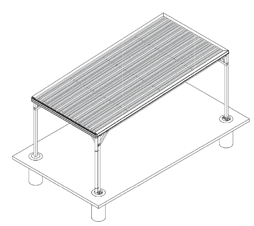 Graphic showing elements of the terrain carport