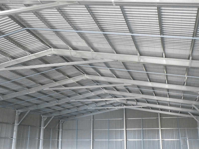 Photo of Trimclad installed as roofing and walling in a large industrial shed.